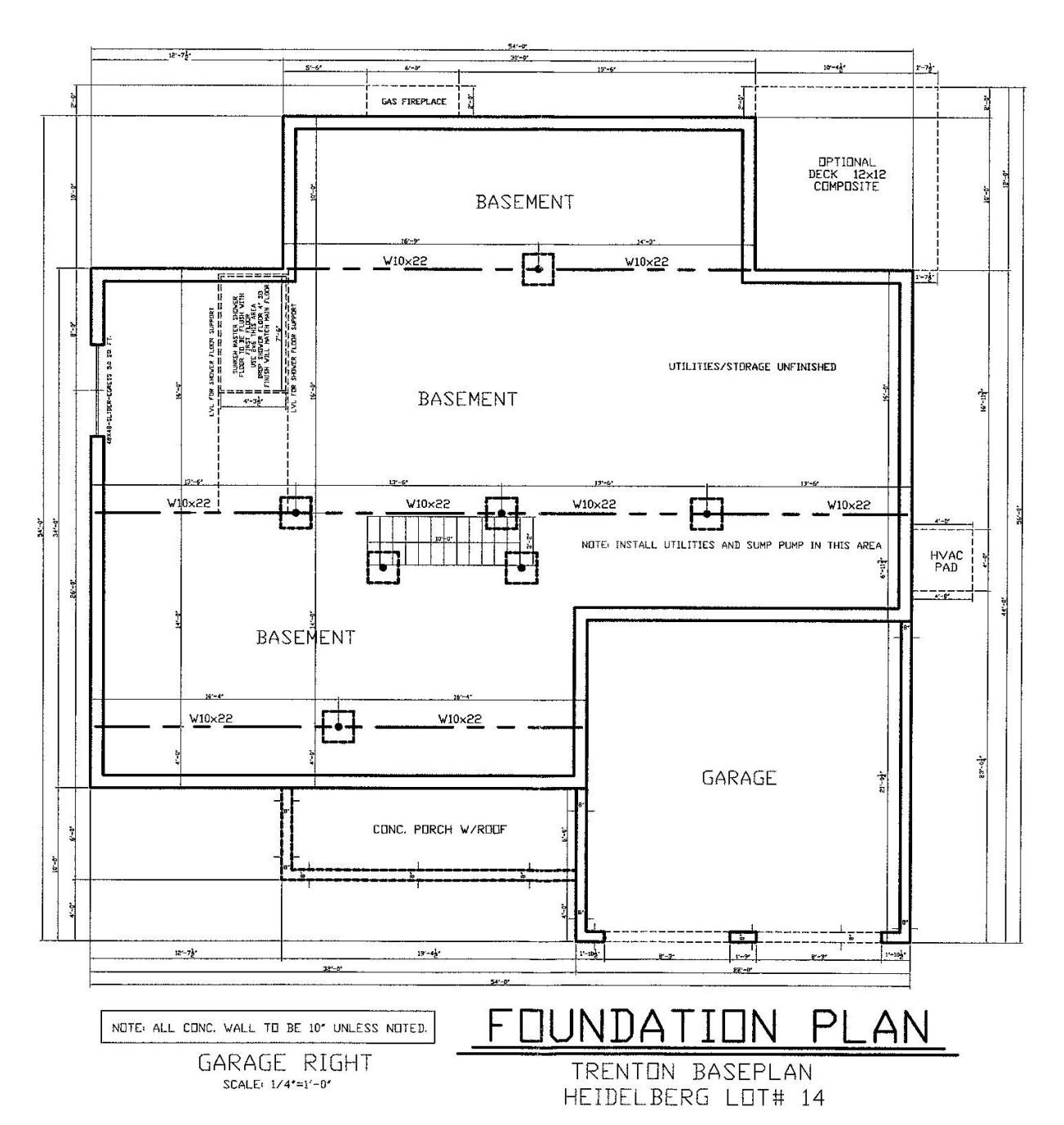 Foundation Plan